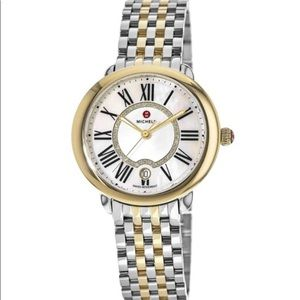 BRAND NEW WITH TAGS MICHELE Two Tone Women's Watch